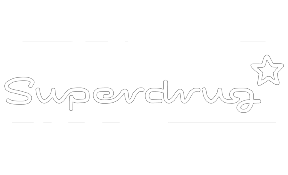 Superdrug logo white